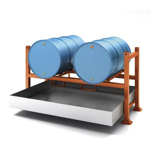 vasca di raccolta zincata per tubolare porta fusti
