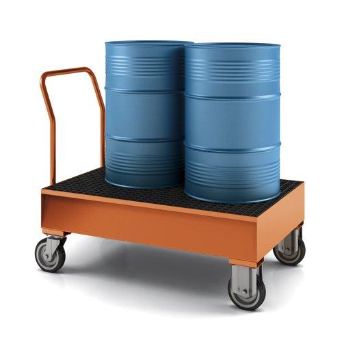 carrello con vasca di raccolta