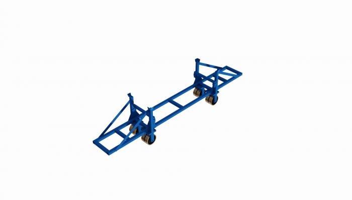 struttura porta barre su ruote