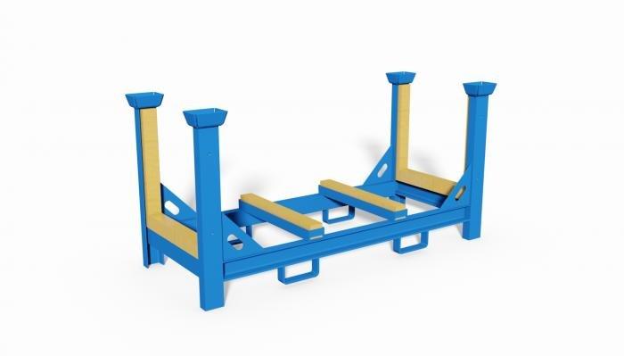 porta barre con appoggi rivestiti in legno