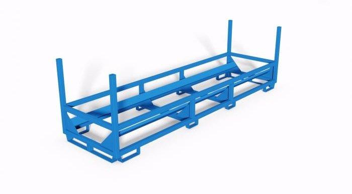 struttura metallica impilabile porta subbi con tessitura