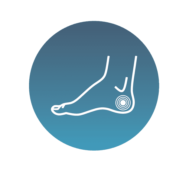 Relief of painful foot conditions icon