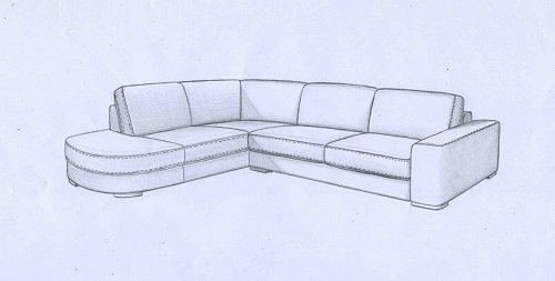 Progetto di sofà in forma di ele