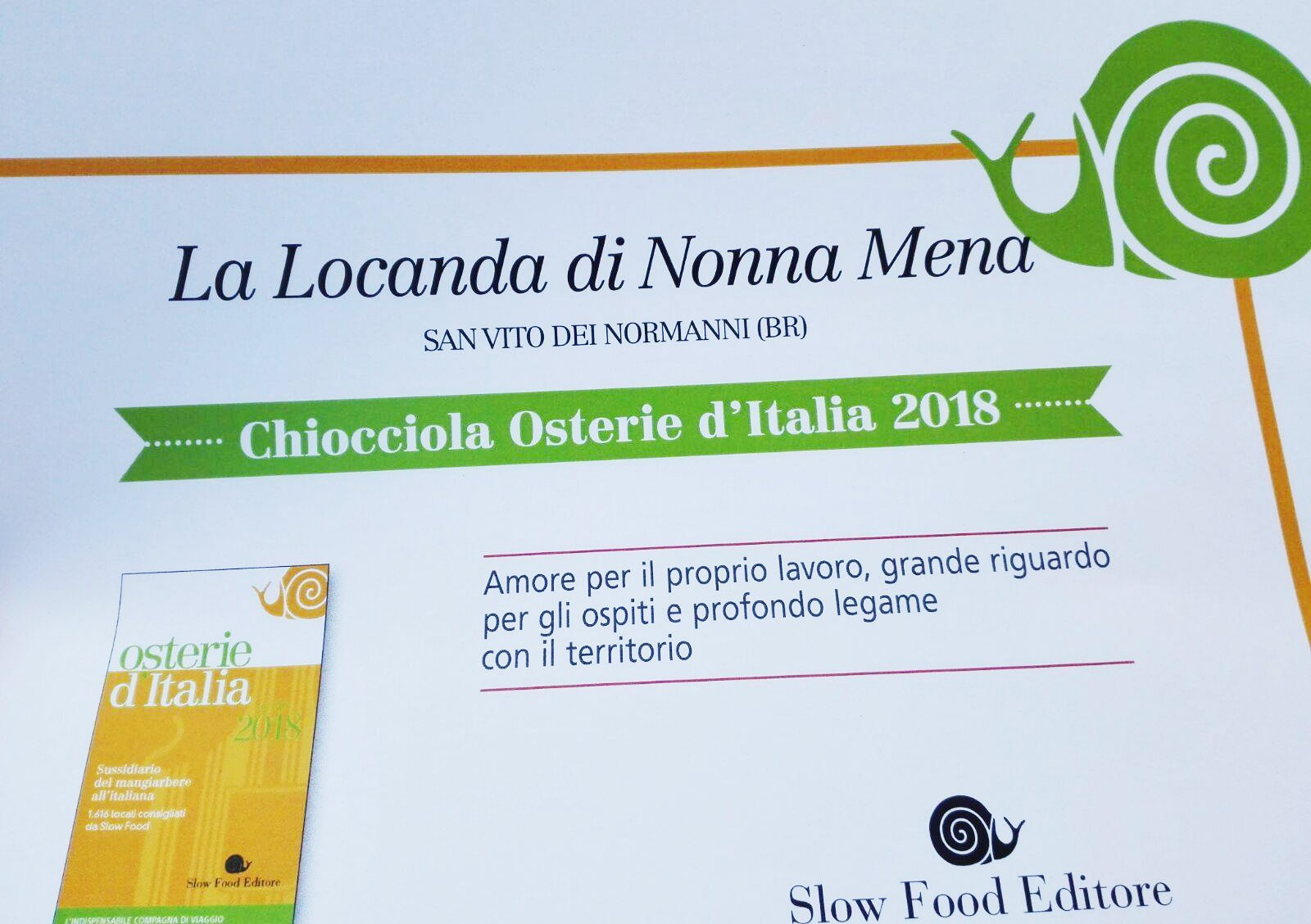 chiocciola slow food