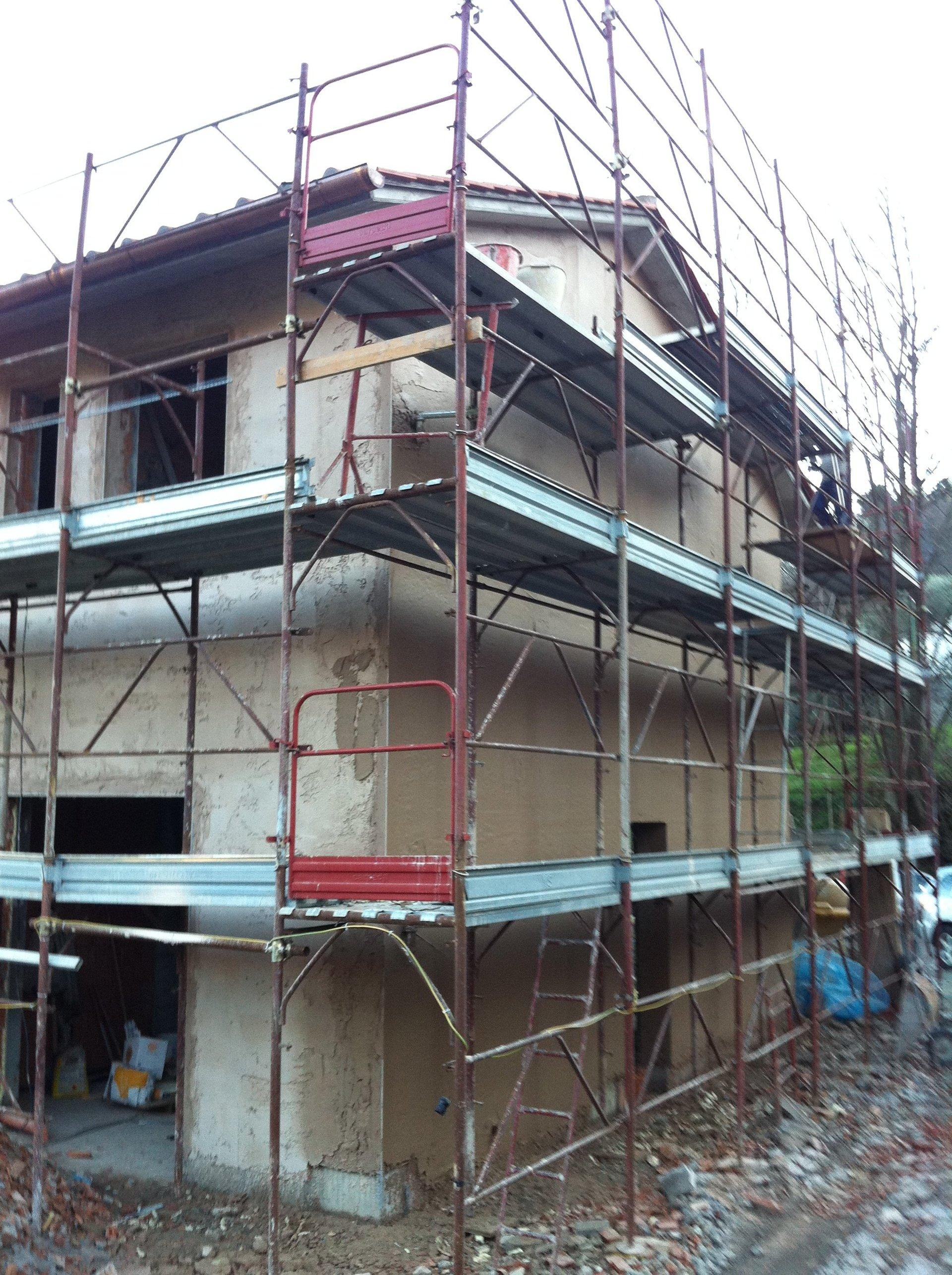 una villa in costruzione