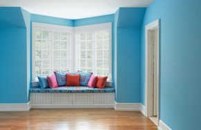 A newly painted room