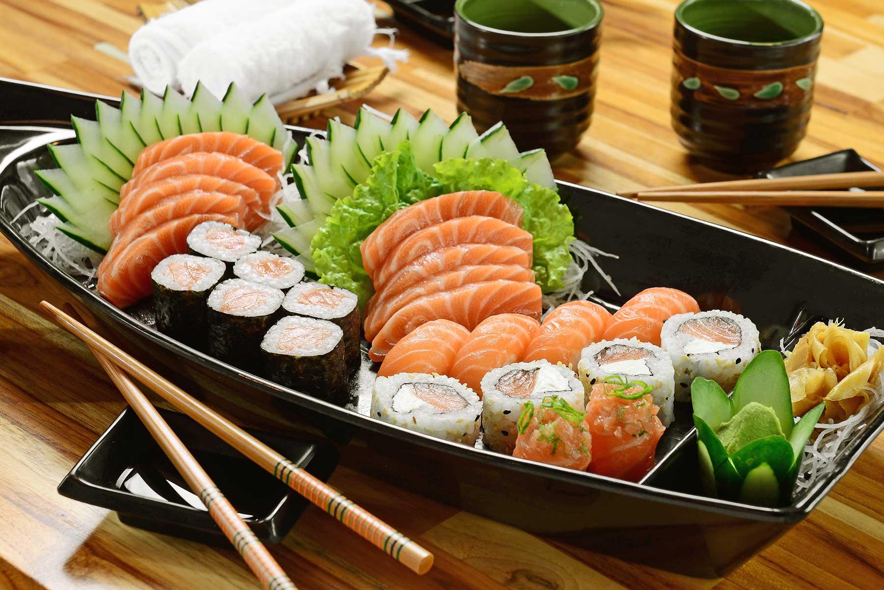 Sashimi, Uramaki e maki