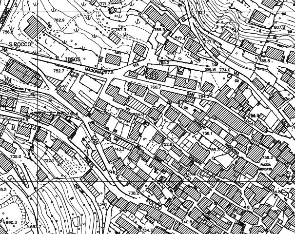 Esempio di mappa topografico
