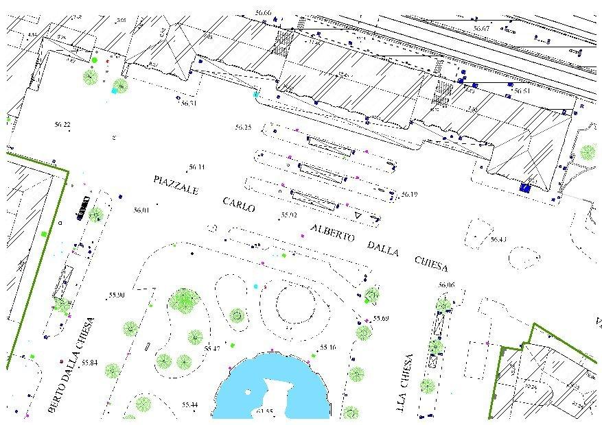 Esempio di mappa cartografica di una città