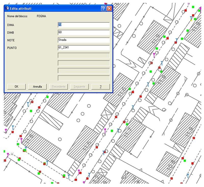Esempio del sistema di software utilizzato per l'elaborazione di mappe