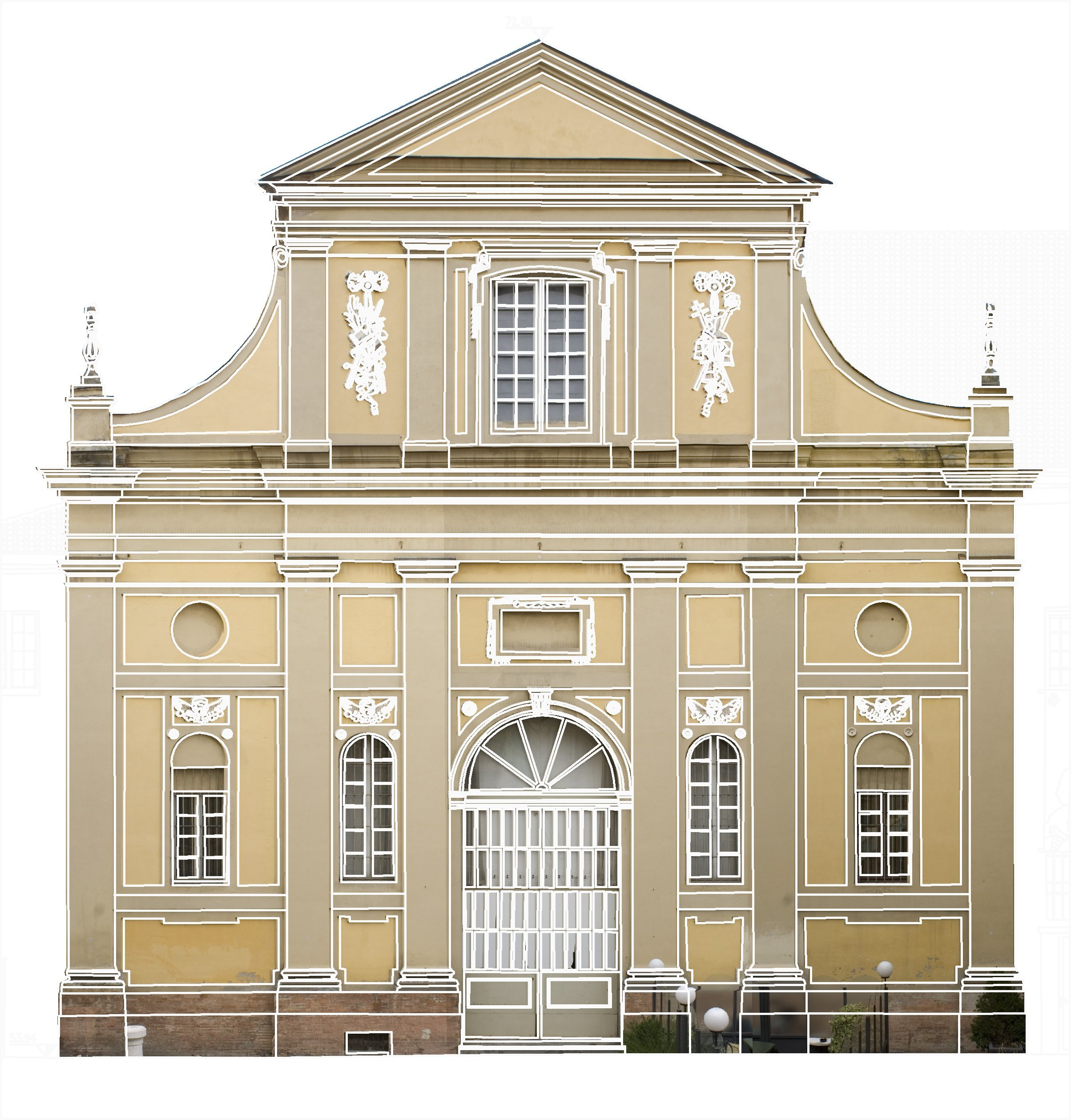 Facciata di un edificio in stile rinascimentale
