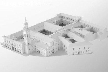 Modello di un antico edificio