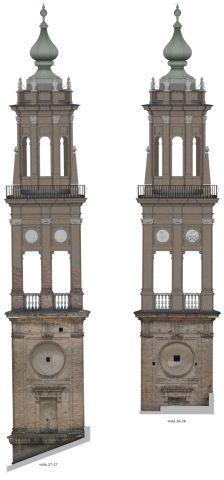 Due modelli di torri antiche