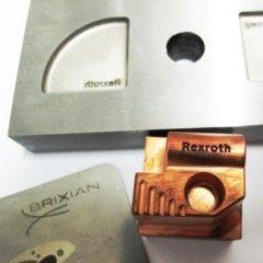 incisione laser engraved 3D stampi elettrodo rame grafite tasselli moulds