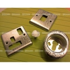 decorazione oggetti industriali cromati pattern texture
