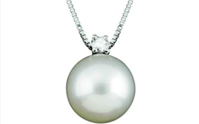 collana con perla e diamanti salvini