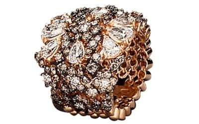 anello in oro rosa crivelli