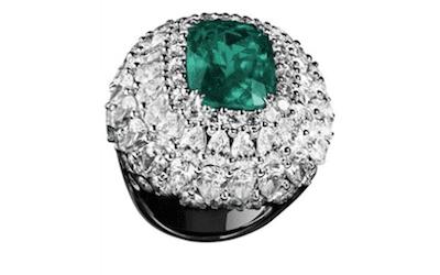 anello con smeraldo bergamo