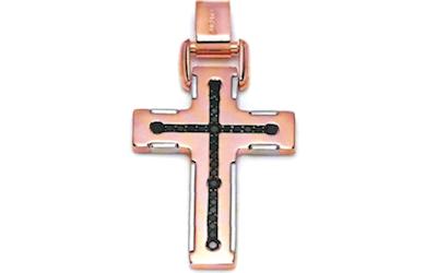 croce in oro rosa bakara