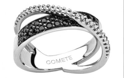 anelli con diamanti bianchi e neri
