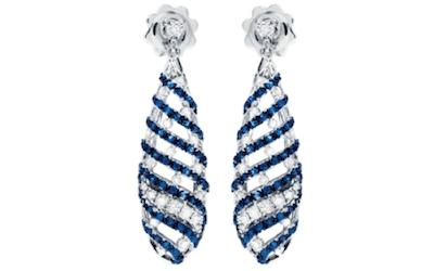 orecchini con diamanti e zaffiri salvini