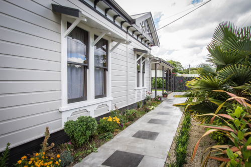 View of the exterior house after a professional exterior paint work in Wairarapa