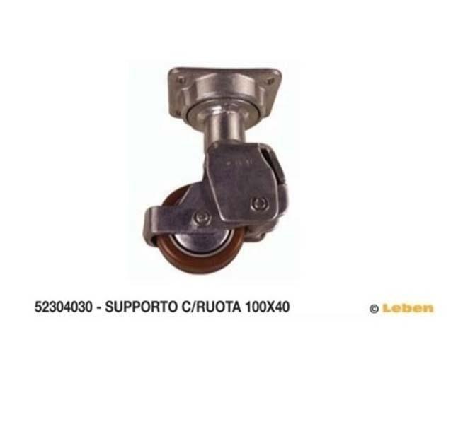 supporti per carrelli in acciaio
