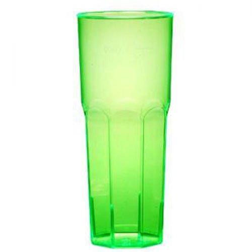 un bicchiere di plastica di color verde