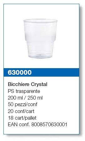 un bicchiere di plastica trasparente  Detersivi-cibiemme