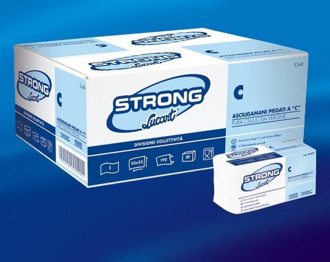 una confezione di asciugamani di carta della marca Strong
