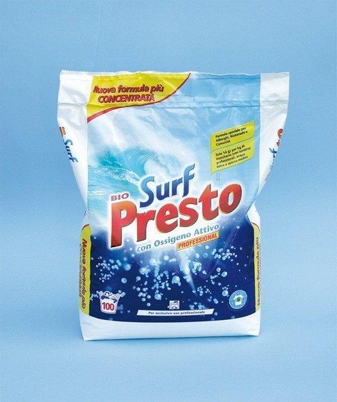 una confezione di detergente Surf Presto