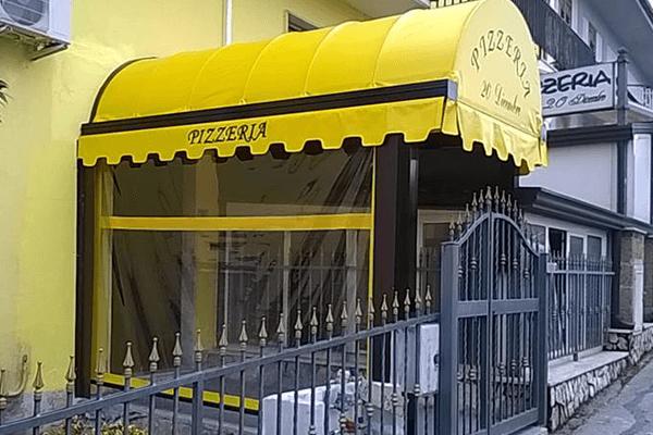 tenda tunnel con chiusura laterale