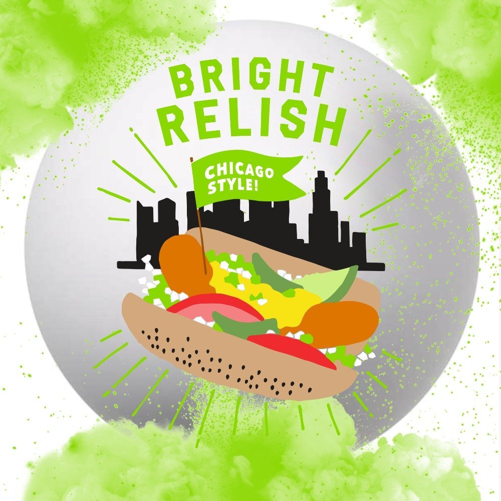 Bright Relish Hot Dogs