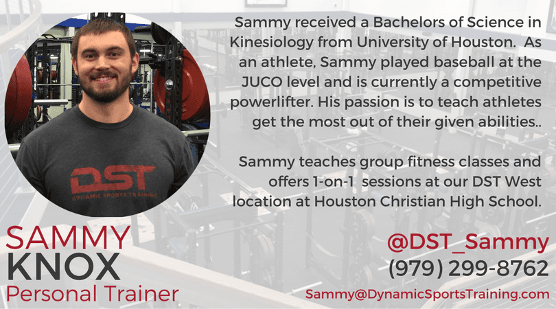 Sammy Knox - Dynamic Sports Training Personal Trainer and Sports Performance Specialist