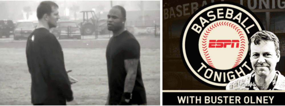 ESPN's Baseball Tonight came to do a special on Carl Crawford's off-season training