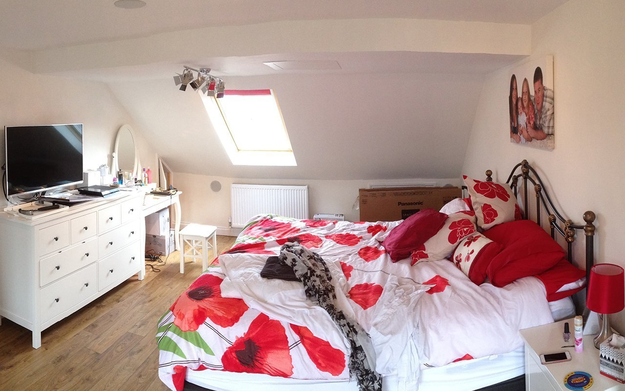 Loft converted to a room