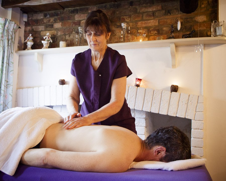 man getting a relaxing massage