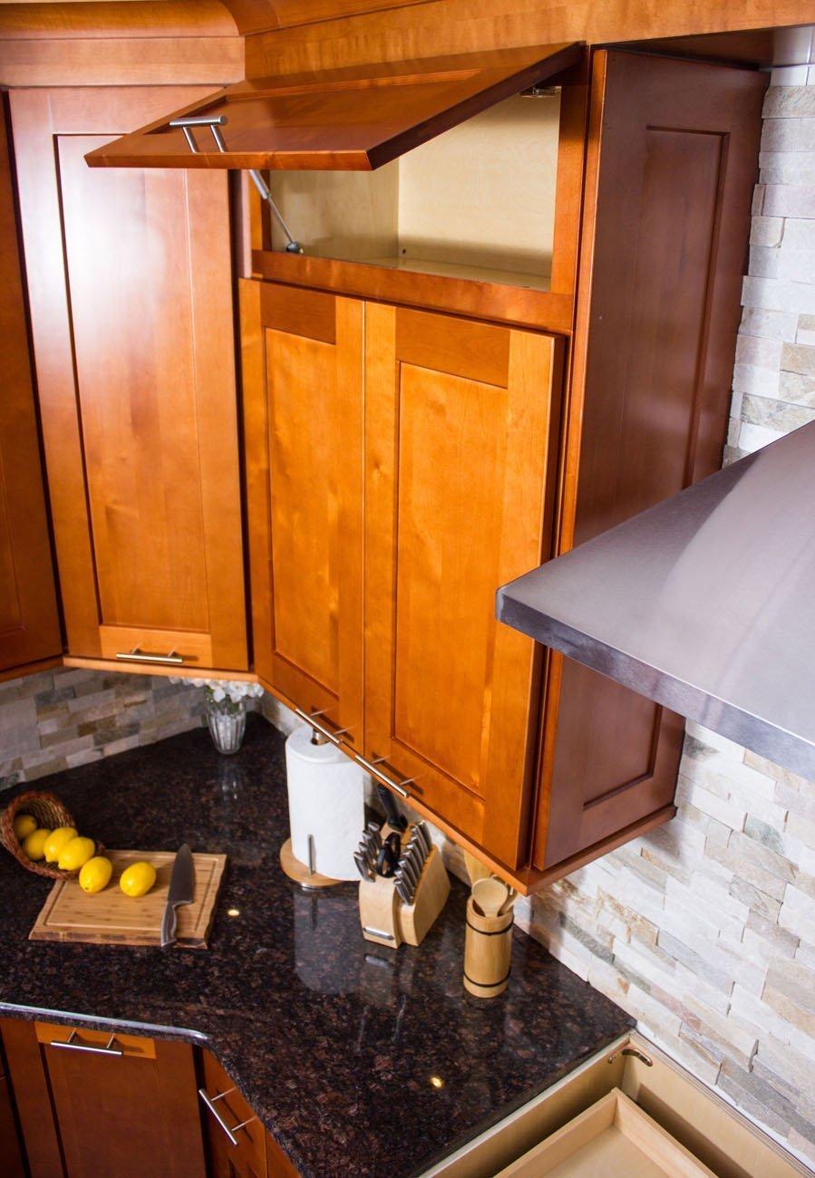 NKBC Inc - Toffee Overhead Cabinets