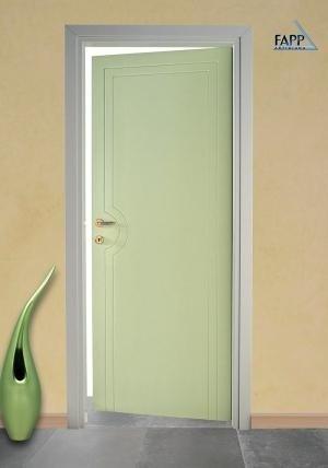 A seguire alcuni modelli della linea di porte da interno in laminato del marchio FAPP.