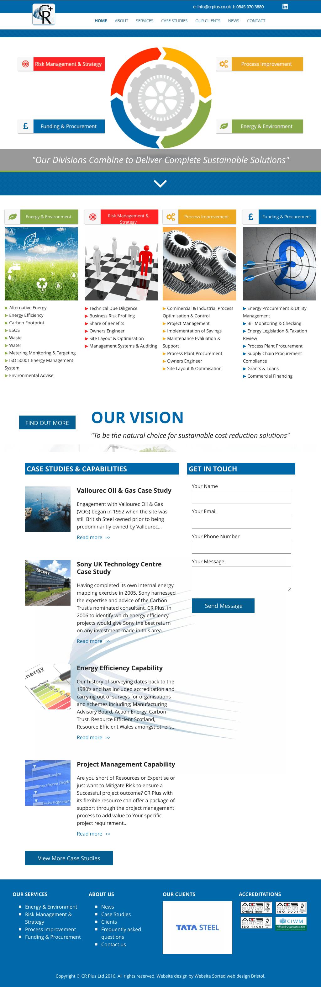 New ressponsive website for CR Plus Ltd