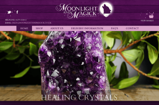 Moonlight and Magick eCommerce Website