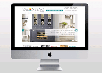 Website Design Portfolio | Valentino Kitchens E-commerce Website Design & Build