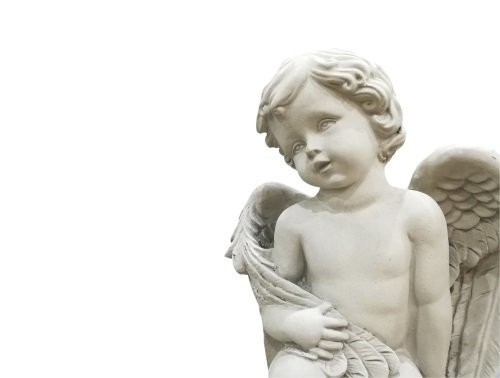 angelo bambino di marmo