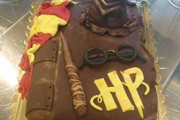 torta con tema harry potter