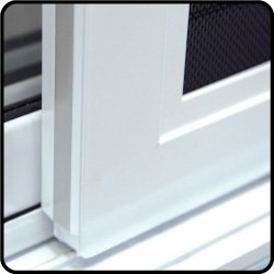 Closer view of Aluminium frame