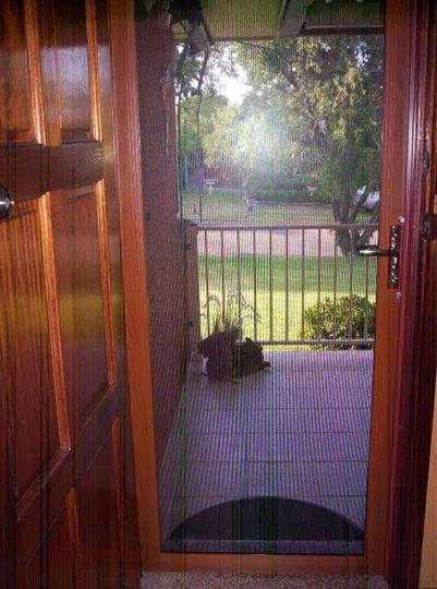 View of brown color hinge door