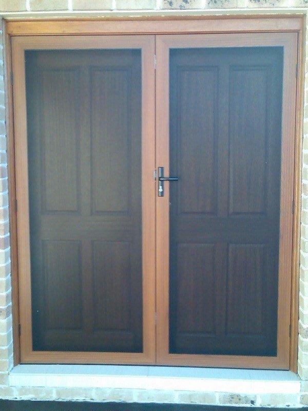 View of black color double hinge door