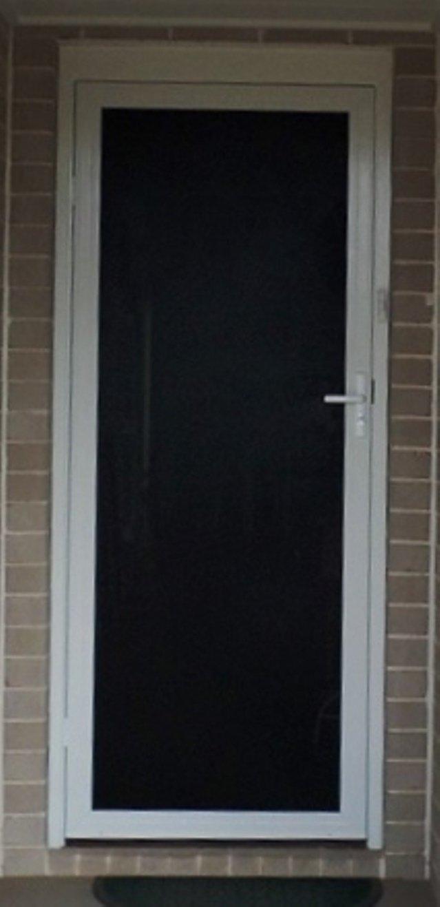 Black color hinge door