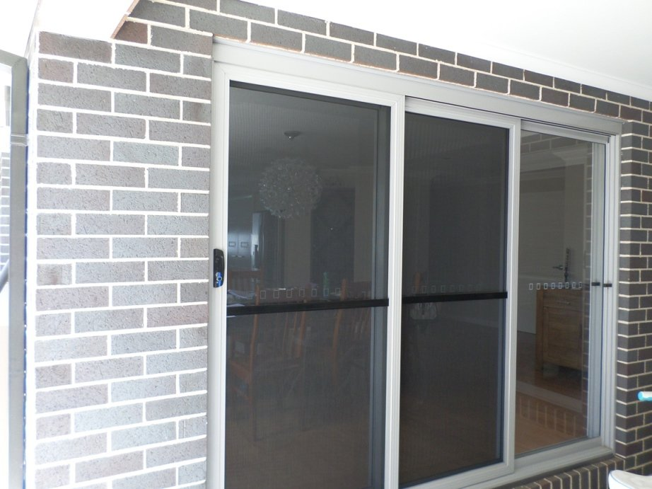 view of sliding door