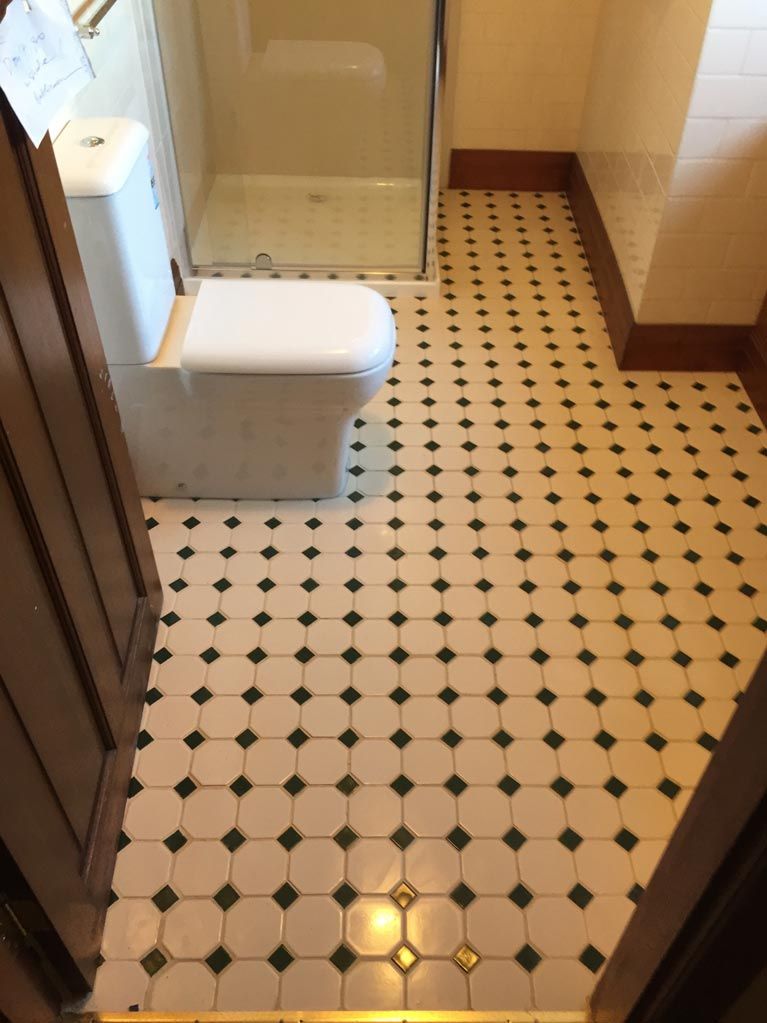 carli construction bathroom with designer tiles side view